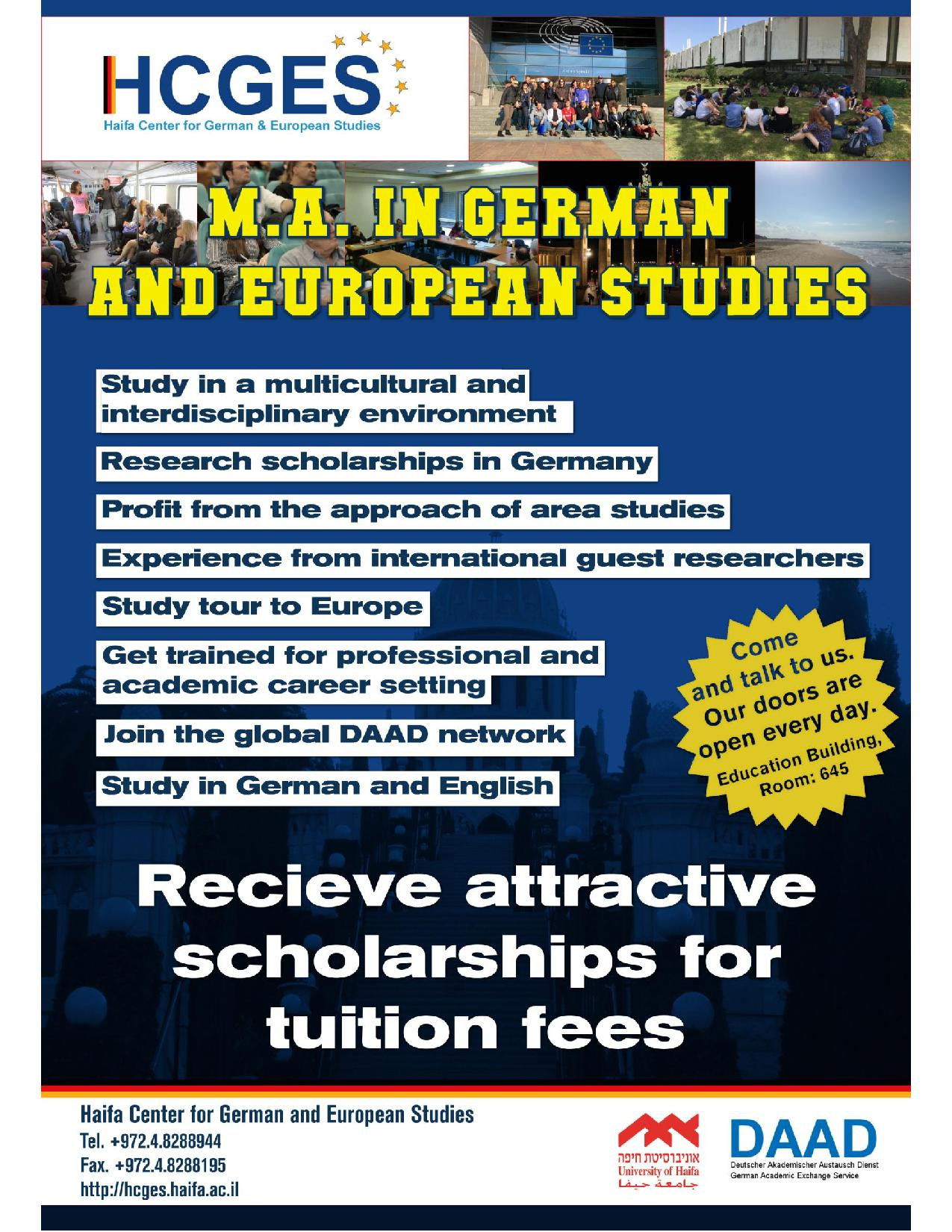 MA Program German European Studies